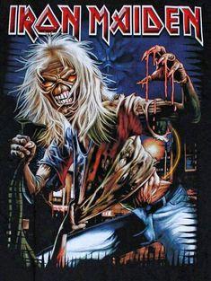 DeeJay_Jon_E_Fever uploaded this image to See the album on Photobucket. Iron Maiden Cover, Iron Maiden Band, Eddie Iron Maiden, Heavy Metal Art, Heavy Metal Bands, Rock Posters, Band Posters, Vic Rattlehead, Iron Maiden Albums