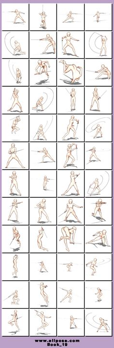 Fencing poses ✤ || CHARACTER DESIGN REFERENCES | キャラクターデザイン | çizgi film • Find more at https://www.facebook.com/CharacterDesignReferences  ✤