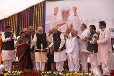 Foundation stone for Statue of Unity laid by Shri Narendra Modi in the august presence of Shri LK Advani ji