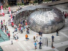 STUDIOKCA projeta pavilhão da NASA inspirado em náutilo