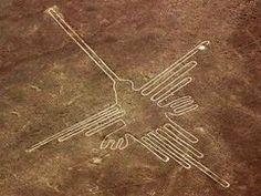 【F】ナスカの地上絵。大地への装飾。デザイン。  死者の埋葬のために描かれたとかなんとか。古代ナスカ人は死者を太陽へ送り届けようとしてこの絵を描いた。  フォルムが素敵で、対照感がないのもまた良いと思う。