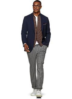 Jacket Navy Plain Havana C4760i | Suitsupply Online Store