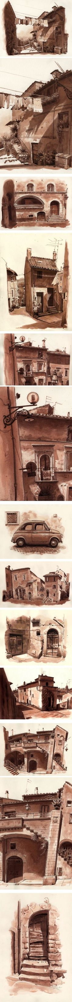 Fred Lynch, Drawings From the Road to Rome