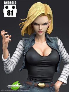 Chica Fantasy, C 18, Image Manga, Anime Figures, Anime Art Girl, Manga Girl, Anime Girls, Female Characters, Dragon Ball Z