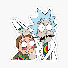 Pop Stickers, Tumblr Stickers, Anime Stickers, Printable Stickers, Rick And Morty Image, Ricky Y Morty, Rick And Morty Drawing, Rick And Morty Stickers, Rick E