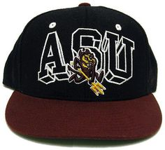 3b27f02e626 Arizona State University ASU Sun Devils Adjustable Snapback Ball Cap Zephyr  Hat