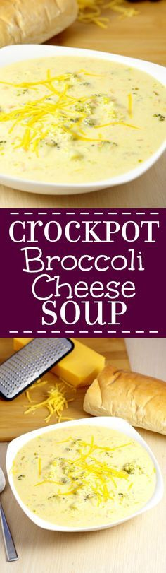 Crockpot Broccoli Cheese Souprecipe will be an instant classic at your home. A traditional soup recipe that the family will love. Serve with warm crusty bread. Broccoli Cheese soup is seriously my favorite! Can't wait to try it in the slow cooker!