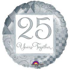 25th anniversary mylar balloon