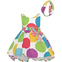 Bonnie Jean Baby Girls Multi Color Polka Dots Balloon Birthday Dress, (18 Months)