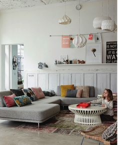 Love open couch in living room. Great for kids and relaxing.