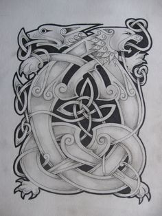 celtic lion and dragon2 by knotty-inks.deviantart.com on @deviantART