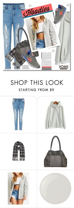 """""""Winter Layering: Hot Hoodies"""" by svijetlana ❤ liked on Polyvore featuring Essie, New Balance, women's clothing, women's fashion, women, female, woman, misses, juniors and Hoodies"""