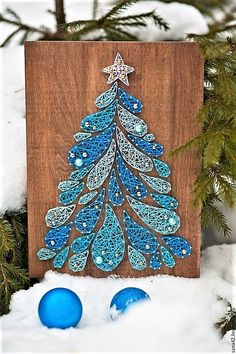 Christmas tree string art – DIY Dreamcatchers – Tree of Life in Marble Falls, TXAmazing art 🎨 By: to Make 3 Easter Bunny Crafts Out of Paper PlatesLernturm und Kindertisch in einem – ein Ikea Hack String Art Diy, String Crafts, String Art Templates, String Art Patterns, Christmas Art, Christmas Projects, Christmas Tree Images, Christmas Tree Painting, Paper Embroidery