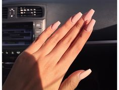 Matte Nude Coffin Nailswho aint got no bitches who aint got no hoes song
