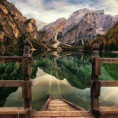 Lake Braies, Prags Dolomites, Italy | PC: Marco De Naro via 500px