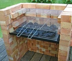Brick bbq grill in stainless steel how to build a brick barbecue built in barbeque grills brick bbq pit iaabigail co Cool Diy Backyard Brick Pit Bbq, Bbq Grill, Patio Grill, Outdoor Oven, Outdoor Cooking, Outdoor Barbeque, Barbecue Ideas Backyard, Parrilla Exterior, Brick Grill