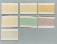Paint colour cards from 1807