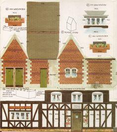 Toys & Stuff: Kellogg's UK - Paper Village - Sheet 3 Pt 3 - The Inn & School Store