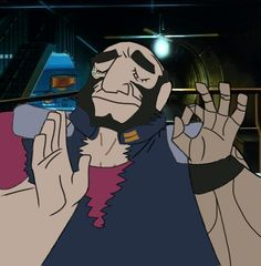 """""""when the woolongs on that bounty are just right"""" Jet Black Cowboy Bebop, Cowboy Bebop Anime, Cowboy Bepop, Western Anime, See You Space Cowboy, Alex Kingston, Naruto Drawings, Space Cowboys, Japanese Cartoon"""