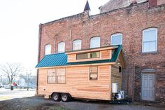 The Lindley, from Tiny House Construction. A tiny house on wheels made in Greenboro, North Carolina.