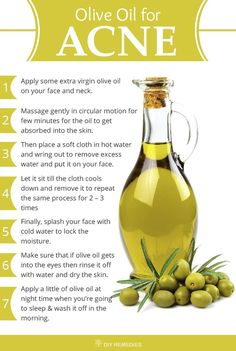 How to use Olive Oil as Pimples Treatment?  Method – 1: Olive Oil Massage  Olive oil massage is the best way to cure acne, as it removes dead cells, enhance proper blood circulation and unclog the pores.