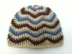 Crochet Patterns: Two Chevron Hat patterns by CrochetSorbet