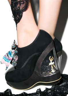 If anyone feels like being over generous... i'm a size 6 ;)   Irregular Choice Glissade Ballerina Wedges | Dolls Kill