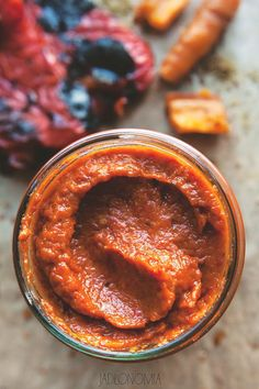 Lutenica: Bulgarian & Macedonian chutney made from roasted peppers, garlic and c… – stan goodwin 202 – macedonian food Bulgarian Recipes, Russian Recipes, Russian Foods, Appetizer Dips, Appetizer Recipes, Romania Food, Macedonian Food, Roasted Peppers, Appetisers
