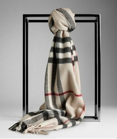 Burberry Light Camel Giant Cashmere Scarf - $125.00 : burberry scarf, burberry scarves