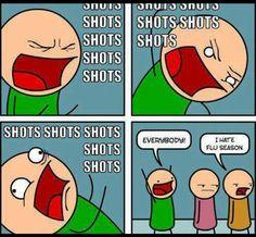 I hate shots :/ lol