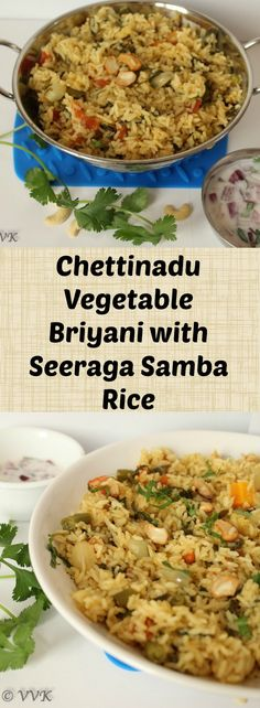 The traditional Chettinadu Veg Biryani with Seeraga Samba Rice and with the authentic spices of Chettinadu cuisine.Enjoy this weekend with this delicious biryani. Recipe link - #biryani #chettinaducuisine #chettinaduvegetablebiryani
