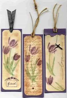 Terrfic Tulips Bookmark 1 by SkisInOkinawa - Cards and Paper Crafts at Splitcoaststampers