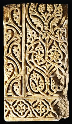 Marble panel Spain, Cordoba; 2nd half of 10th century http://www.pinterest.com/thealater/pretty-pretty-persian-and-al-andalus-10th-century/