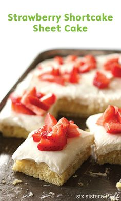 When fresh summer berries are in season, it's the perfect time to make this recipe for Strawberry Shortcake Sheet Cake. You'll love this dessert treat for parties as well!
