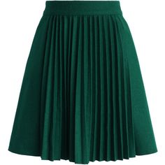 Chicwish Accordion Pleats Wool Blend Skirt in Emerald ($35) ❤ liked on Polyvore featuring skirts, bottoms, faldas, green, green pleated skirt, knee length pleated skirt, green skirt, accordion pleated skirt and pleated skirt