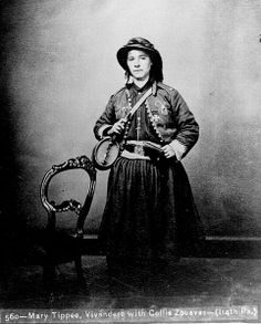"Mary Tippe of the 114th Pennsylvania Infantry, also know as ""French Mary"", was a Vivandière in the US Civil War."