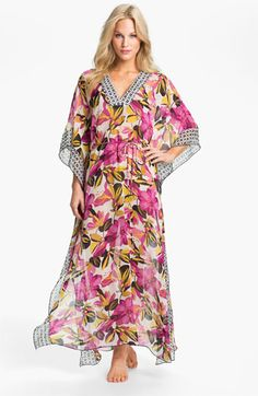 Tory Burch 'Catarina' Silk Caftan Cover-Up available at #Nordstrom. I should have bought the one I found at the thrift store! It was $7.00! This one is $375.00