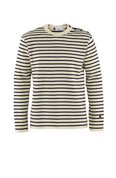 St Hermine in Off-white/Marine Looks Great, Menswear, Coat, Sleeves, Sweaters, Shopping, Black, Fashion, Hermione