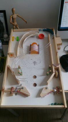 Homemade Pinball Machine!   #diy #pinball #homemade #arcade