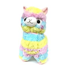 "AMUSE Alpacasso Plush Rainbow Stuffed Animal 18"" (Rainbow Alpaca) #AMUSE"