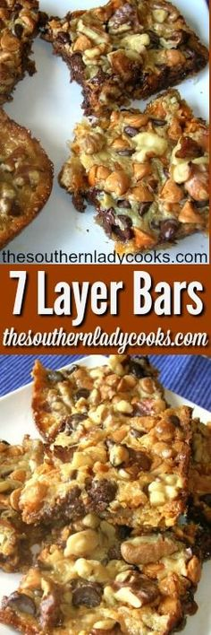 These Seven-Layer Bars are addictive. I can't stop eating them and they are great for an after school snack for children or to go in the lunchbox.