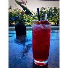 Refreshing and bright, our Pom-Strawberry Signature Lemonade is handcrafted with fresh strawberries mixed with pomegranate & fresh lemon juices at Trump International Hotel Waikiki Beach Walk's Wai'olu Ocean View Lounge