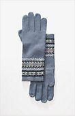 Fair Isle smart gloves from J.Jill --- blue haze, one size