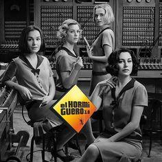 Hoy vienen a divertirse a El Hormiguero cuatro grandes actrices españolas a punto de convertirse en @chicasdelcable ... @blanca_suarez , @anafdz1989 , @maggiecivantos y @nadiadesantiago90