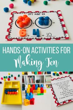 Hands-on activities for composing 10 including free printables!