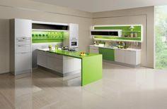 El verde, lo que se impone en cocinas.