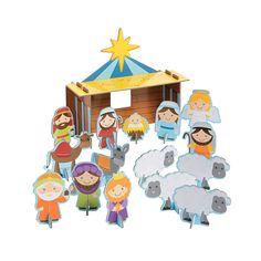 Chipboard Nativity Playset - OrientalTrading.com