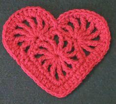 Free Crochet Pattern:Crochet Heart Felicity links to lots of free heart motif patterns.