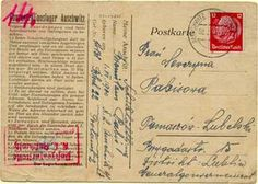 Postcard mailed from Auschwitz to Lublin