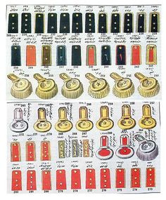 Ottoman Turkish Army Rank insignia - 1880's through 1908